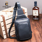 Men PU Leather Bag Outdoor Sports Casual Men's Backpack Crossbody Sling Bags