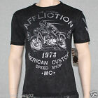 Affliction AC Racer Reversible A5924 Men's T-shirt Tee Black Lava Wash NWT