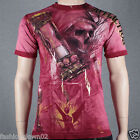Affliction Edge A7757 Men's T-shirt Tee Dirty Red Seam Wash