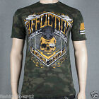 Affliction BLACK GOLD A7919 Men's T-shirt Tee Military Green Camo Lava Wash
