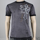 Affliction DISSOLVE A8062 Men's T-shirt Tee Black Seam Wash