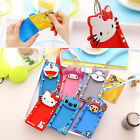 Chic Silicone Cartoon ID Card Holder Card Case Badge Necklace Neck Strap Lanyard