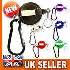 Retractable Key Chain Badge Reel - Recoil Carabiner ID Ski Pass Holder YoYo