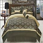 11pc Thomasville Brown Bedroom Comforter Set w/Pillows AN...