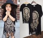 Summer Family Clothes Mother Daughter Dresses Womens Kid Girls Short Black Dress