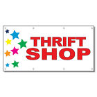 Plaques Signs - Thrift Shop Red Stars 13 Oz Vinyl Banner Sign With Grommets