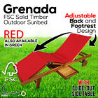 Timber Outdoor Furniture Sunbed Lounge Daybed Sun Bed Wooden Table Chair Setting