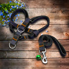 Jeans Denim Fabric Dog Harness and Leash No Pull for Dogs Beagle Labrador 4 Size