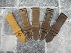 24mm Genuine Leather Strap Brown Assolutamente Tang Buckle Watch Band PANERAI 5C