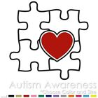 2 COLOR AUTISM AWARENESS PUZZLE HEART CAR VINYL DECAL STICKER (AW-05)