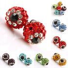 Wholesale Crystal Rhinestone 10mm Round Evil Eye Ball Loose Spacer Beads Finding