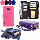 For Samsung Galaxy S6 Active Magnetic Detachable PU Leather Zipper Wallet Case