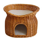 Cat Two tiers/bunk wicker basket with oval top