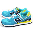 New Balance WL574CPS B Blue & Navy & Lime & White Classic Lifestyle Shoes NB