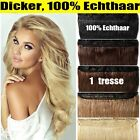 7A Thick One Piece Ein Tresse Galtt Remy Echthaar Clip in Extensions Human Hair