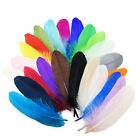 Wholesale 10-100pcs Beautiful natural goose feather 15-20cm / 6-8inches  25color