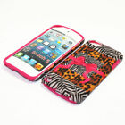 For Apple iPod Touch 5th Gen Hybrid 2-in-1 Cover Case Safari Ribbon & Bow