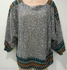 Stella Grey Mix Knitted 3/4 Sleeve Loose Party Tunic Top (NEW) Uk Size 8