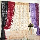 Drop Beaded String Door Window Curtains Divid Lace Curtains Room Yellow Tassel