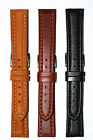 Speidel Bounty Leather Watch Band Strap Size 16mm 18mm 19mm 20mm Black Brown Tan