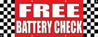 free battery check - Free Battery Check Auto Body Shop Car Repair DECAL STICKER Retail Store Sign