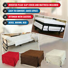 Ottoman Foldable Single Sofa Bed Lounge Sofabed Couch Stool Suede Cover Mattress