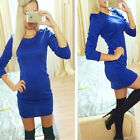 Sexy Women Ladies Long Top Summer Bandage Bodycon Pencil Mini Blue Party Dress