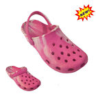 Girls Kids Children pink glitter Slippers clog Sandals sizes 13 to 3