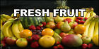 Fresh Fruit Food And Drink DECAL STICKER Retail Store Sign