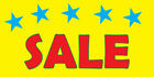 Sale yellow DECAL STICKER Retail Store Sign $35.99 USD