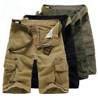 NEW Fashion Mens Cargo Pants Shorts Trousers Casual Military CAMO Combat Army