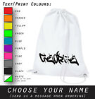 Unique Personalised Graffiti Fashion White Polyester Gymsac School Bag Gift