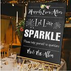 Personalised Wedding Sparklers Sign  A1 / A2 / A3 Sizes / CANVAS / LET'S SPARKLE