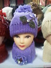 LADIES GIRLS WARM WINTER CAP AND SCARF SET CHRISTMAS GIFT CHRISTMAS CAP 7 colors