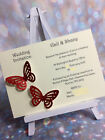 10 Glitter Butterfly Evening Invitations ***14 colours***