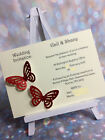 10 Glitter Butterfly Personalised Evening Invitations MANY COLOURS