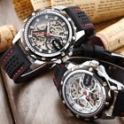 New Luxury Skeleton Automatic Mechanical Silicone Sport Mens Classic Wrist Watch