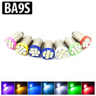 4x Ba9s t4w 8smd 1206 LED White Blue Green Red Pink Yellow Interior Light Bulbs