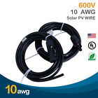 1 Pair 10 AWG Solar Cable PV Wire with MC4 Female and Male connectors-UL4703