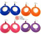 New Large Spanish Flamenco Hoop Earrings 8cm Drop - Great Choice of Colours