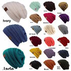 Внешний вид - CC women Slouch Bubble Knit Beanie Cap Baggy Oversize Winter Snow Ski Snow Hat