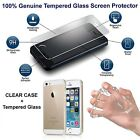 Crystal Clear TPU Case + Tempered Glass Protector fit for iPhone 5s 6s 7 8 7+ 8+