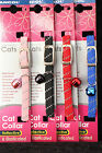 ANCOL REFLECTIVE AND ELASTICATED SOFTWEAVE CAT COLLARS BLACK, BLUE, RED & PINK