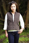 Ladies Fitted Equestrian Riding Vest Peach Microfibre Soft Feel