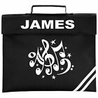 Personalised Music Notes Design School BOOK BAG. Colour Choice.