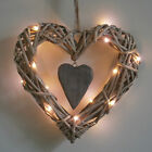 wicker heart with lights