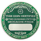 250 Finds Geo-Milestones Geocoin And Pin Set - Award Your Geocaching Success
