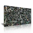 Jackson Pollock Full Fathom Five Details Modern Abstract Art Stretched Canvas