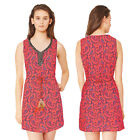 Stella Morgan Designer Womens Embellished Sun Dress Ladies Feather Detail Tunic
