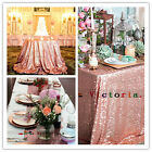 Rose Gold Sequin Table Cloth, Shimmer Sparkly Overlays Tablecloths for Wedding